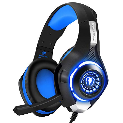 BlueFire Professional 3.5mm PS4 Gaming Headset Headphone with Mic and LED Lights for Playstation 4