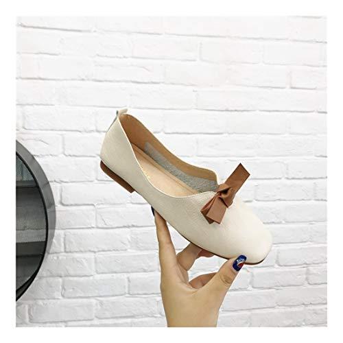 Superficial Wulifang Soft Arroz Libre Blanco Inferior Plaza Hebilla Cmodos 35 Brown Pu Guisantes Zapatos EABATqwrxn
