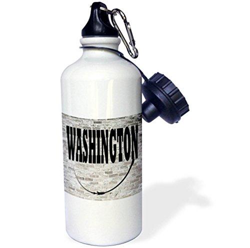 3dRose RinaPiro - US States - Washington. State Capital is Olympia. - 21 oz Sports Water Bottle - Capital Washington Of Olympia State