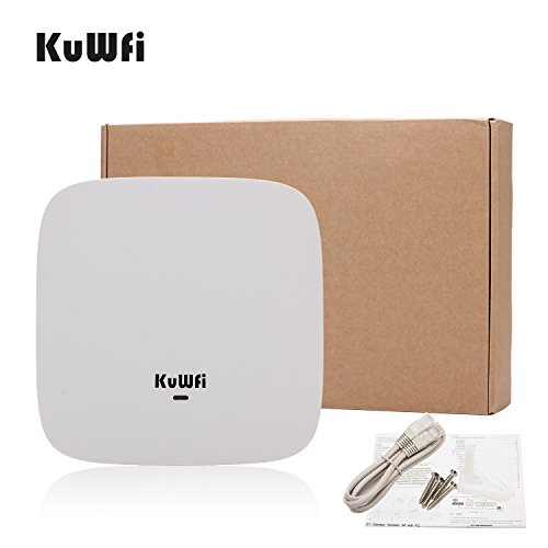KuWFi Ceiling Mount Wireless Access Point, Dual Band Wireless Wi-Fi AP Router with 24V POE Long Range Wall Mount Ceiling Router Supply a Stable Wireless Coverage by KuWFi (Image #5)