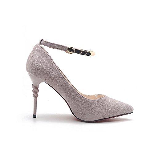 1TO9Mmsg00028 - Sandalias con cuña mujer gris