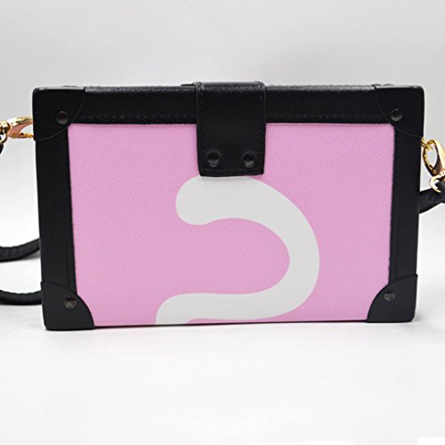 pink Cross Messenger Millya Square Cat Cartoon Envelop Purse Bag Bag Body Flap Mini Ladies Shoulder Box Bag aaUqrBz