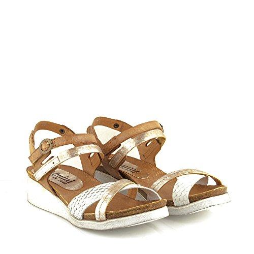 Felmini - Zapatos para Mujer - Enamorarse com Dora 8987 - Sandalias de cuña - Cuero Genuino - Varios colores Varios colores