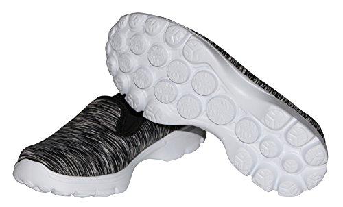 Dellukee USB Lade LED Beleuchtung Schuhe Fashion Flashing Sneaker W-schwarz