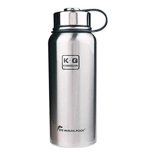 Tdogs Sports Water Bottle,800ML Simple Drink Hot Cold Vacuum Insulated Flask Stainless Steel Water Bottle