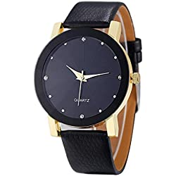 Big promotion ! Teresamoon watch Christmas Cheapest Quartz Sport Wrist Watch Men (Golden)