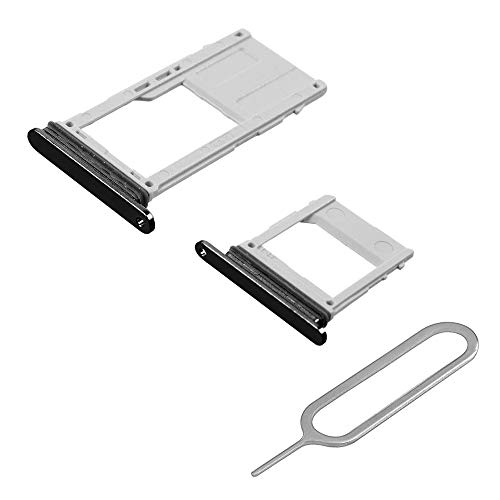 (MMOBIEL Set with 1 SIM and 1 SD Card Tray Compatible with Samsung Galaxy A8 / A8 Plus (Black) incl Sim pin)