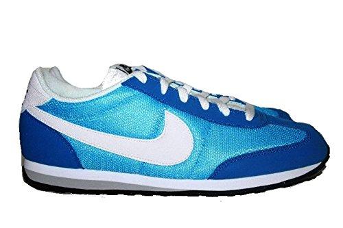Nike Mens Mach Racer Retro Våffla Löparskor Blå Vit