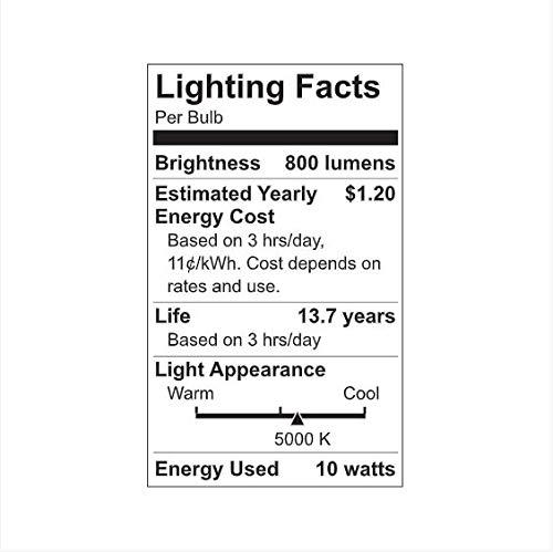 GE Lighting LED Light Bulb, A19, 60-Watt Replacement, Daylight, 4-Pack LED Light Bulbs, Medium Base, Dimmable