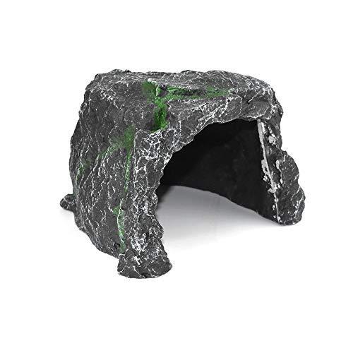 (OMEM Reptile Hiding Large Cave Habitat Decorative Resin Pet Nest Turtle Lizard Dedicated Advanced Cave Shelter)