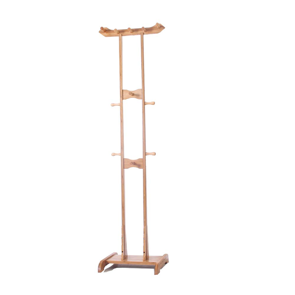 DATOUFZR European Style Coat Rack Simple and Modern Bamboo Bag Clothes Space Saving, Monochrome 41.244.5174cm