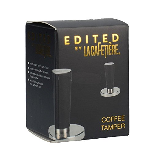 "Creative Tops COFFEE TAMPER ""Edited by La Cafetiere"" Black Embossed"