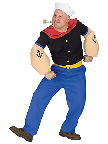 Fun World Costumes Men's Mens Popeye Costume, Blue, One Size -