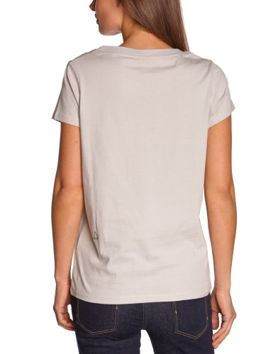 Eleven Paris - Camiseta con cuello redondo de manga corta para mujer Gris (Aw Wind 015)