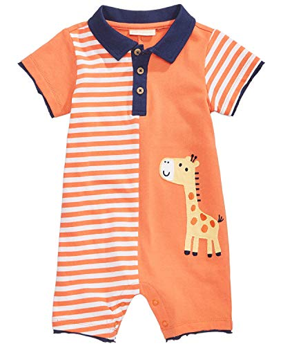 First Impressions Baby Boy's Sherbet Giraffe Sunsuit/Romper