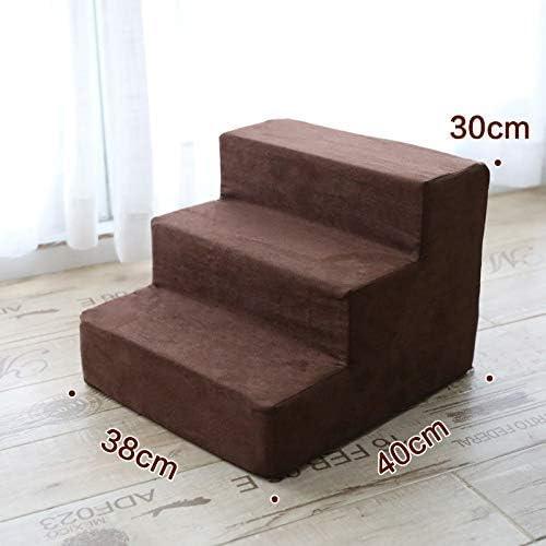 iSunday Escalera de Espuma para Mascotas, 3 peldaños, para Gatos, Perros, escaleras para Mascotas, escaleras livianas: Amazon.es: Productos para mascotas