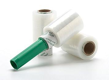 45 rollos de papel para 100 mm x 150 m transparente elástico con una tira de
