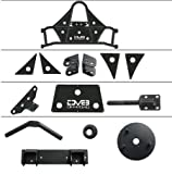 DV8 Jeep Wrangler Tire Carrier Body Mounted Offroad Spare Tire Relocation Kit Perfect for 4x4 Accommodates up to 42 Tire with ANY Lug Pattern Fits 07-17 JK Model Textured Black TCSTTB-01