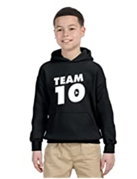Allntrends Kids Youth Hoodie Team 10 Cool Trendy Tshirt Hot Top