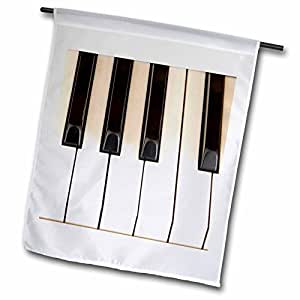 fl_45224_1 Patricia Sanders Photography - Piano Keys- Instruments- Photography - Flags - 12 x 18 inch Garden Flag
