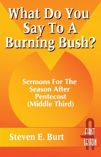 What Do You Say to a Burning Bush?: Sermons for the Season After Pentecost (Middle Third : Cycle a, First Lesson Texts)