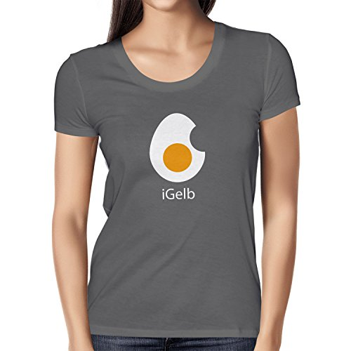 Texlab iGelb - Damen T-Shirt, Größe XL, Grau