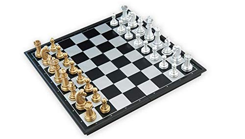 - Chess Sets - Chess Board - Chess Set for kidf, Adults, Chess Game Medieval Chess Set with Chessboard 32 Chess Pieces with Chessboard Gold Silver Magnetic Chess Set WPC