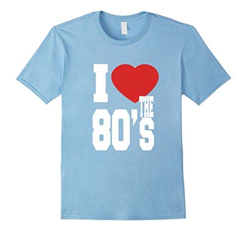 80s Decade Costumes (Mens I Love The 80's T shirt 80s Halloween Costume Medium Baby Blue)