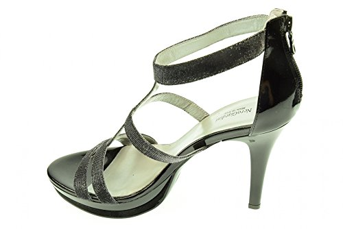 In Sandalo P512991de Da Nero Donna Elegante Tessuto Glitter Giardini 100 xX558qA