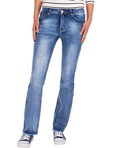 franja Azul Fraternel mujer Vaqueros con Pantalones recto XHYwXx