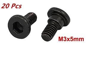 xjs Black Oxide Strength Grade12.9 Carbon Steel Shoulder Screw 20 Pcs by xjs