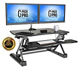 "G-PACK PRO - Desktop Standing Desk Converter | Sit-To-Stand Work Desk Riser | Adjustable from 5.7"" to 19.7"" 