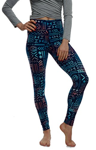 Pattern Maternity Outfits Set - LMB Lush Moda Extra Soft Leggings with Designs- 136YF Aztec Multi Yoga