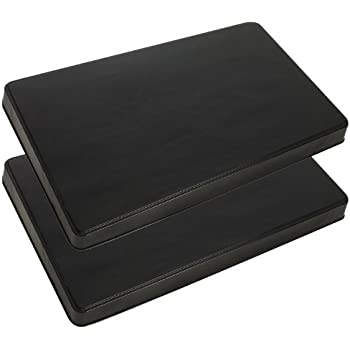 Range Kleen 572 Black Rectangular Burner Cover, Set of 2 - 19 5/8 x 11 5/8 x 1 7/8 inches