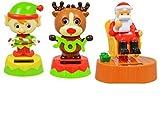 Solar Dancing Reindeer and Elf and Solar Swinging Santa - 3 Pack