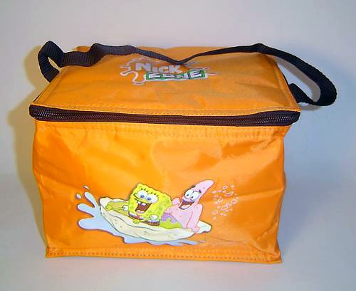 Nick Zone Vinyl Insulated Lunch Bag Featuring SpongeBob Squarepants and Patrick, Fairly Odd Parents - Cosmo, Wanda and Jimmy, Rug Rats and Jimmy ()