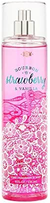 Bath and Body Works Fine Fragrance Mist Bourbon Strawberry Vanilla 8 Ounce Spray