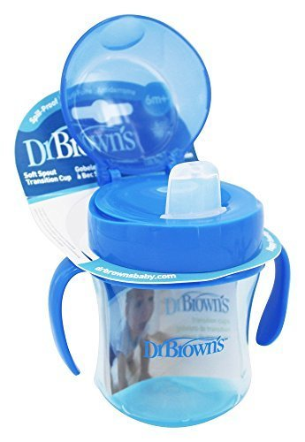 Dr. Brown's Soft-Spout toddler Cup for Boys, Blue, 6 Ounce by Dr. Brown's