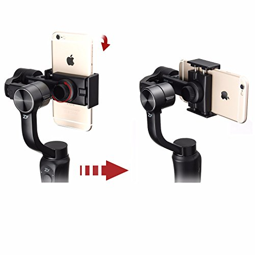 Zhiyun Smooth Q w/ Plate, 3-Axis Handheld Gimbal Stabilizer for Smartphone & Gopro Hero 6 / 5 / 4 / 3 & Xiaomi Yi action camera Wireless Control Vertical Shooting Panorama Mode (Zhiyun Smooth-Q Black)
