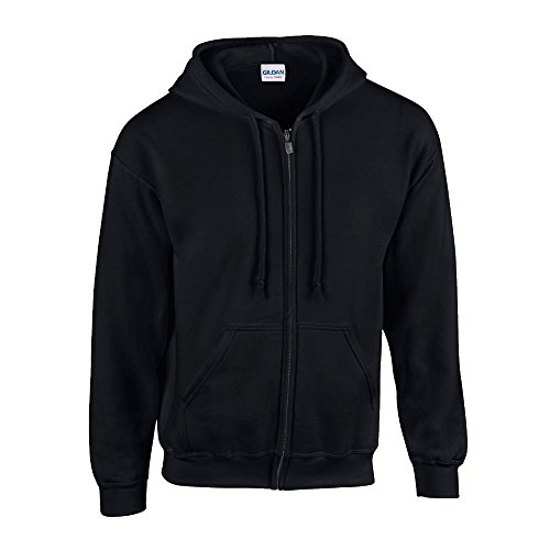 Gildan - Kapuzen Sweat-Jacke 'Heavyweight Full Zip' L,Black