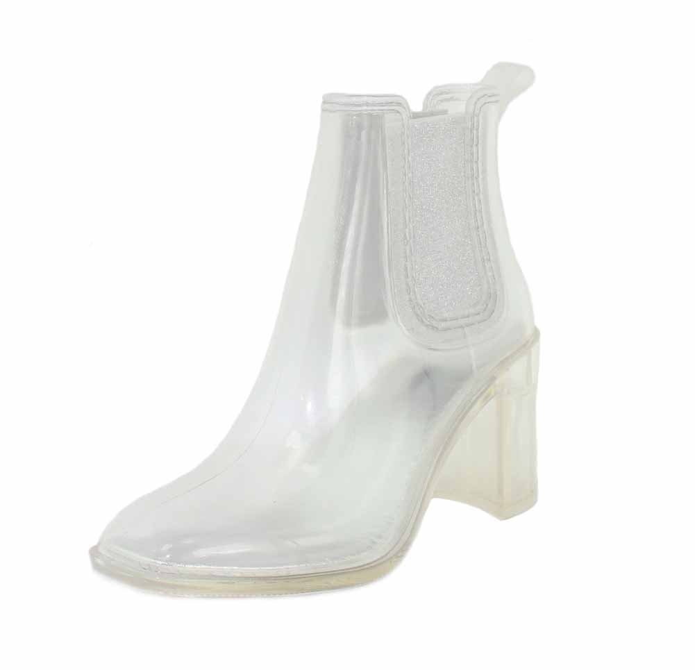 Jeffrey Campbell Women's Hurricane Rain Booties B078X4PHYZ 9 B(M) US|Clear