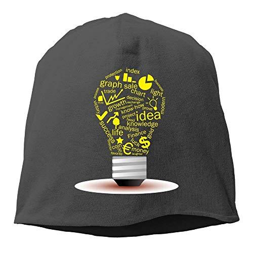 JOQSI Solid Color Idea Creative Light Pattern Headband for Unisex Black One Size - Barrier Headband