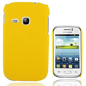 Pure Color Plastic Funda Case Carcasa para Samsung Galaxy Young S6310, S6312% 2F %2F (Yellow)