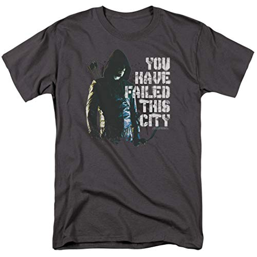 Arrow TV Show You Have Failed This City T Shirt & Exclusive Stickers (Small) Charcoal (Arrow Mens Shirt)