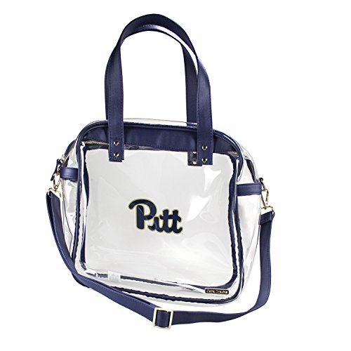 CAPRI DESIGNS CLEARLY FASHION LICENSED STADIUM COLLECTION CARRYALL TOTE---MEETS STADIUM REQUIREMENTS (University of Pittsburg) by CLEARLY FASHION