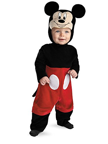 Disguise My First Disney Mickey Costume, Black/Red/White, 12-18 Months]()