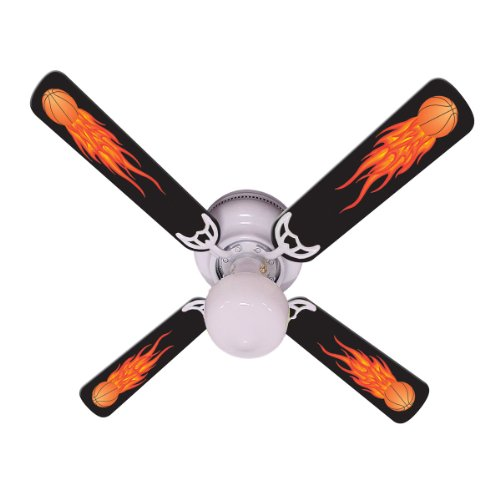 """Ceiling Fan Designers Ceiling Fan, Flaming Basketball Balls, 42"""" from Ceiling Fan Designers"""