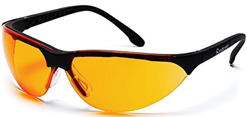 Pyramex Rendezvous Safety Eyewear, Orange Lens With Black (Orange Lens Safety Glasses)