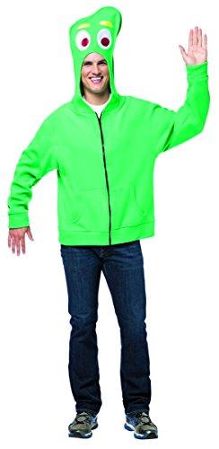 Rasta Imposta Men's Gumby Hoodie, Green, X-Large (Gumby Costumes)