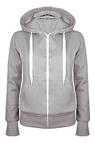 gris à fermeture capuche plus taille à Uni effet sweat shirt Outlet glissière femme mélange pour Oops 6–22 q60pxYw